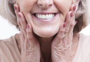 smiling denture patient